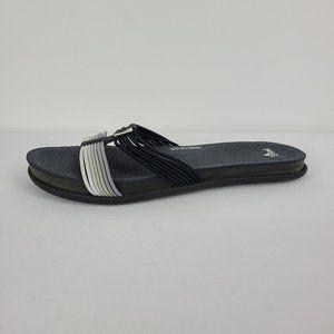 Adidas Black & Grey Flip Flops Size 7